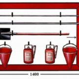 Щит открытый ЩПРО (1250х1250х60) с кронштейнами для огнетушителей