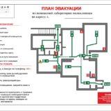 План эвакуации ламинированный на А3